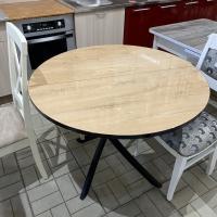 Diamond Стол обеденный тип 3 (Черный муар/Бунратти глянец)